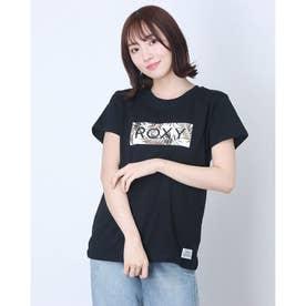 ROXY/ ルーズシルエット  ボタニカルロゴTシャツ  RST202026 (ブラック)