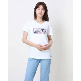 ROXY/ ルーズシルエット  ボタニカルロゴTシャツ  RST202026 (ホワイト)