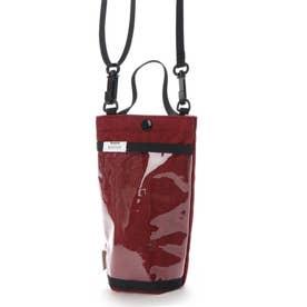 斜め掛け ボトルホルダー チケットホルダー スマホケース RO ボトッシュ プレーン 0364 (RED)