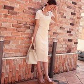 ビックボタンタイトスカート オフホワイト