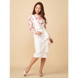 2WAYラッフルジャンパースカート (オフホワイト)