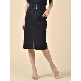 ベーシックデニムタイトスカート (ブラック)