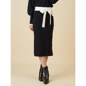 ニットタイトスカート (ブラック)