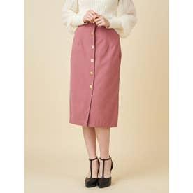ヴィンテージボタンタイトスカート (ピンク)