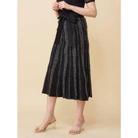 ネップツィードニットスカート (ブラック)
