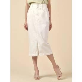 ベーシックデニムタイトスカート (オフホワイト)