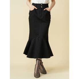 デニムマーメイドスカート (ブラック)