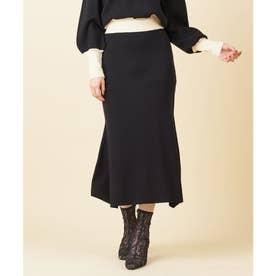 マーメイドニットスカート (ブラック)