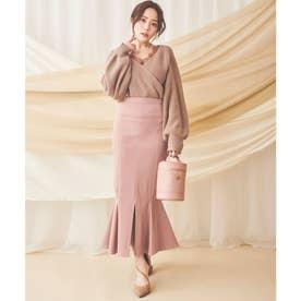 【丈が選べる】 ガムストレッチマーメイドスカート (ピンク)