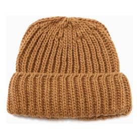 ニット帽 ブラウン