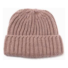ニット帽 ピンク