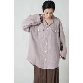 リネンシャツジャケット ピンク