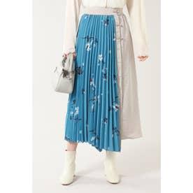 オリエンタルプリントスカート◇ ブルー
