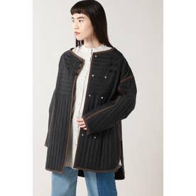 リバーシブルキルトジャケット ブラック