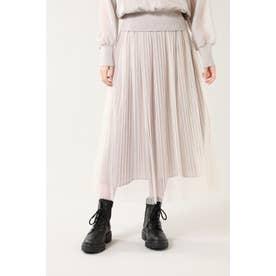 チュールレイヤードスカート ベージュ