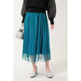 チュールレイヤードスカート ブルー