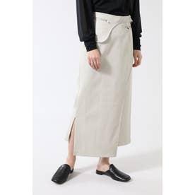 フェイクレザーストレートスカート ベージュ