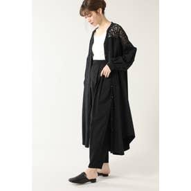 レースヨークシャツドレス ブラック