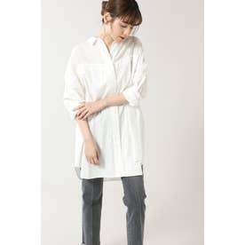 シアーパネルビッグシャツ ホワイト