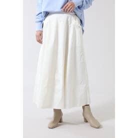 ロングフレアスカート ホワイト