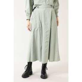 ロングフレアスカート ライトグリーン