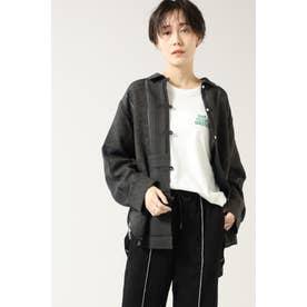 ジャカードシアーシャツ ブラック