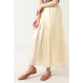 アシメトリープリーツスカート ホワイト
