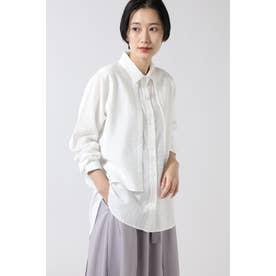 パネルストライプシャツ ホワイト
