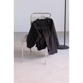 バックギャザーシャツ ブラック