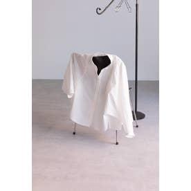 バックギャザーシャツ ホワイト