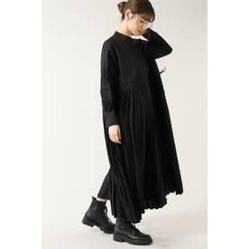 プリーツシャツドレス ブラック