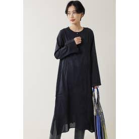 アイライン刺繍ワンピース ブラック