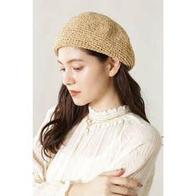 クロシェ編みベレー帽 ベージュ