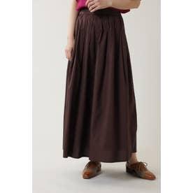 インドタックロングスカート ブラウン