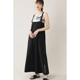 <THOUSAND MILE × GENE HEAVENS>クロスストラップロングジャンパースカート ブラック