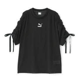 PBAE メッシュ Tシャツ ウィメンズ ブラック