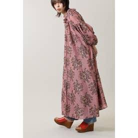 フラワージャカードドレス ピンク