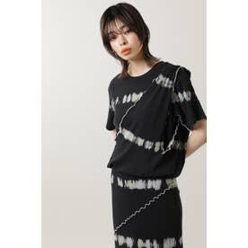 ブリーチリブTシャツ ブラック