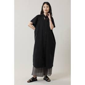 カットアウトシャツドレス ブラック