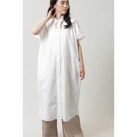 カットアウトシャツドレス ホワイト