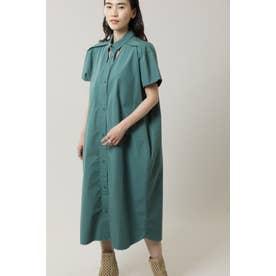カットアウトシャツドレス グリーン