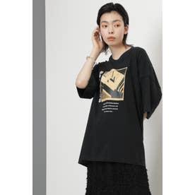 BAUHAUSアートプリントTシャツ ブラック