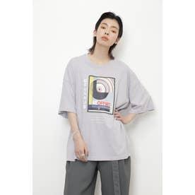 BAUHAUSアートプリントTシャツ パープル