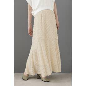 カットジャカードマーメイドスカート ホワイト