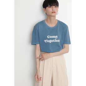 グラフィックプリントTシャツ ブルー