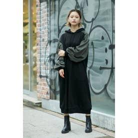 フーデッドドレス ブラック