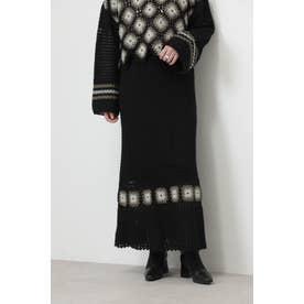 クロシェスカート ブラック