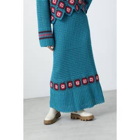 クロシェスカート ブルー