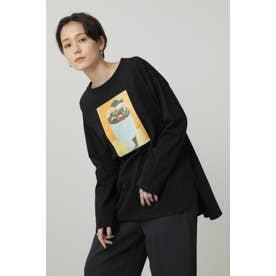 Paul RandグラフィックロングTシャツ ブラック