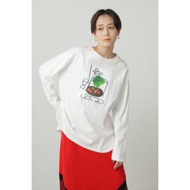 Paul RandグラフィックロングTシャツ ホワイト